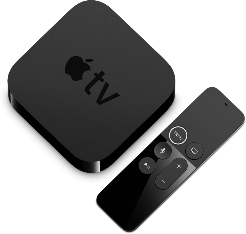 Apple TV 4K Box and Remote