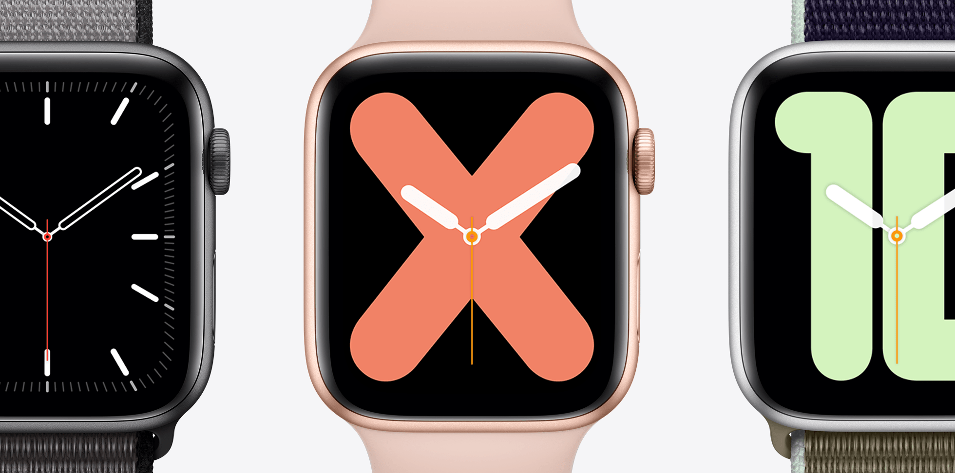 multiple apple watch series 5 faces