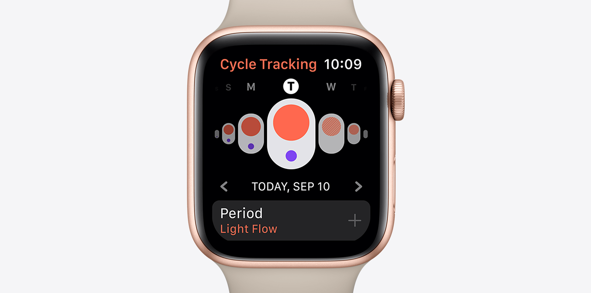 apple watch series 5 cycle tracker>