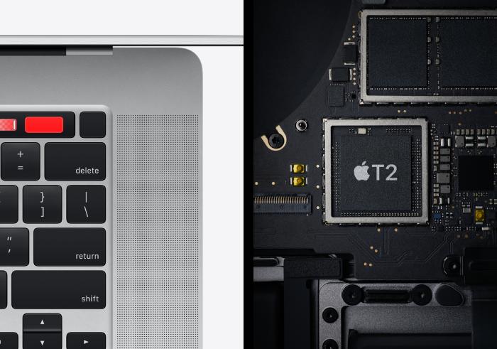apple mac 16 inch interior processor